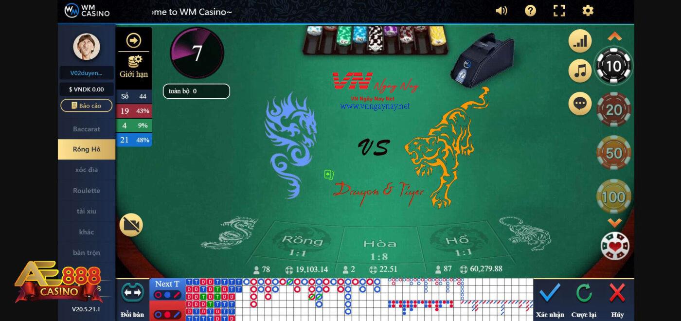 Chơi Game Rồng Hổ tại AE888