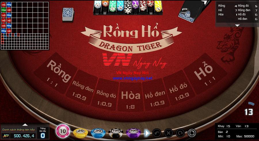 Game Rồng Hổ tại ST666