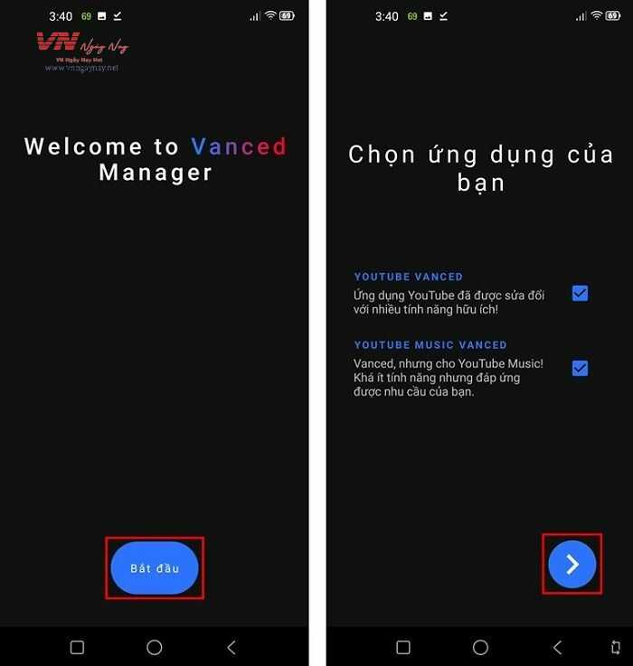 ứng dụng Vanced Manager 2.6.1